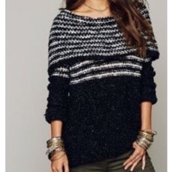 Free People Sweaters - HP! Free People Engineer Striped Cowl Neck Sweater 8d868a0f0